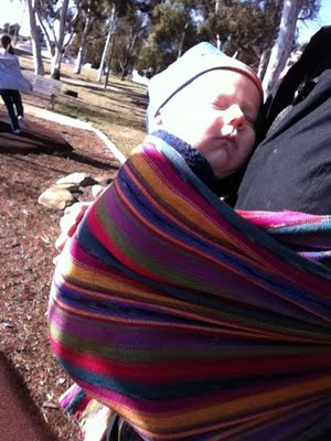 Babywearing with a Maya Wrap