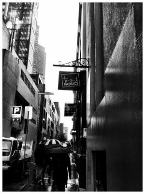 Rainy Melbourne Street